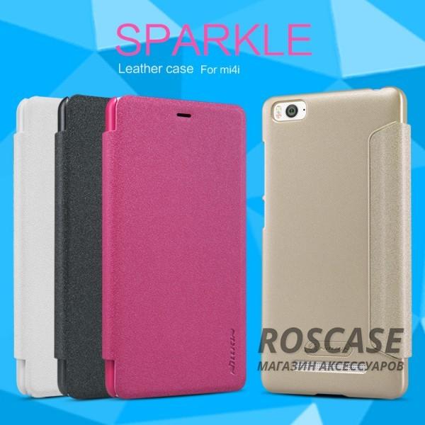 Кожаный чехол (книжка) Nillkin Sparkle Series для Xiaomi Mi 4i / Mi 4cОписание:бренд -&amp;nbsp;Nillkin;совместим с Xiaomi Mi 4i / Mi 4c;материал - кожзам;тип: книжка.&amp;nbsp;Особенности:функция Sleep mode;тонкий дизайн;блестящая поверхность;защита со всех сторон.<br><br>Тип: Чехол<br>Бренд: Nillkin<br>Материал: Искусственная кожа