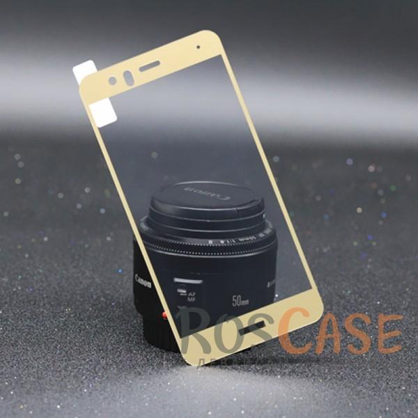 Тонкое олеофобное защитное стекло Mocolo с цветной рамкой на весь экран для Huawei P10 Lite (Золотой)<br><br>Тип: Защитное стекло<br>Бренд: Mocolo