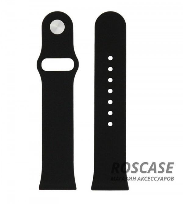 Силиконовый ремешок для Apple watch 38mm (Черный)Описание:бренд -&amp;nbsp;Epik;изготовлен для Apple watch 38mm;материал  -  силикон;тип  -  ремешок.&amp;nbsp;Особенности:не скользит на руке;регулируемая длина;подходит на запястья с разным диаметром;надежно крепится к девайсу;не боится влаги;разнообразная палитра цветов.<br><br>Тип: Общие аксессуары<br>Бренд: Epik