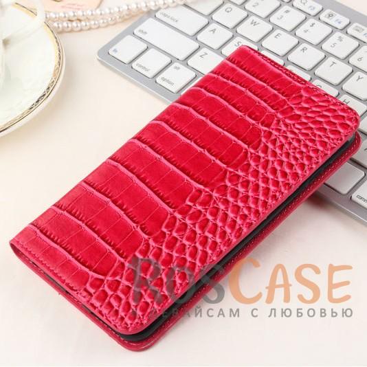 Кожаный чехол-книжка с имитацией кожи крокодила для Meizu M3 Note (Розовый)<br><br>Тип: Чехол<br>Бренд: Epik<br>Материал: Искусственная кожа