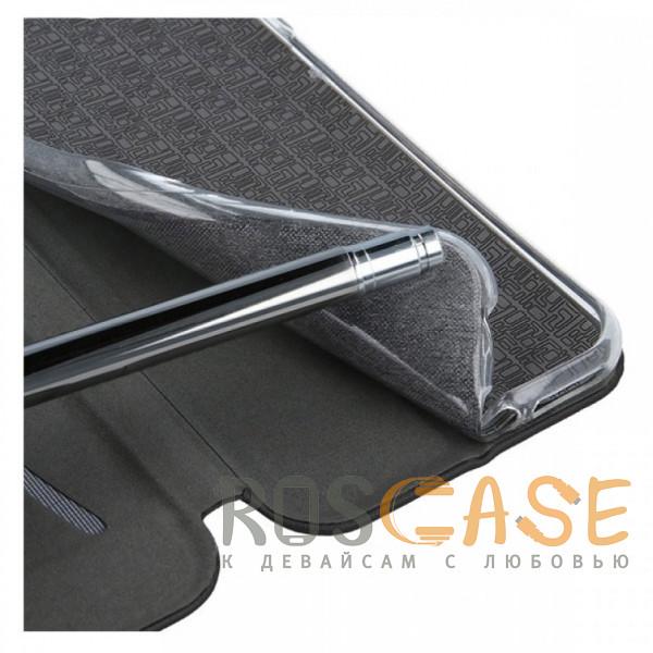 Изображение Черный Open Color | Кожаный чехол-книжка для Meizu M6s с функцией подставки и магнитом