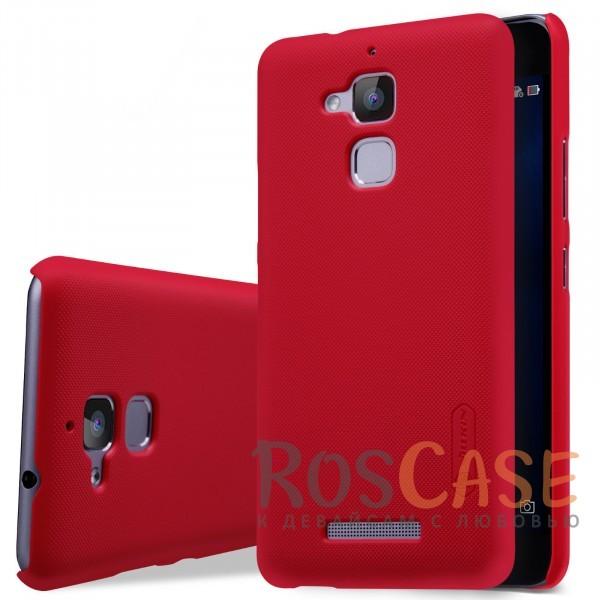 Чехол Nillkin Matte для Asus Zenfone 3 Max (ZC520TL) (+ пленка) (Красный)<br><br>Тип: Чехол<br>Бренд: Nillkin<br>Материал: Поликарбонат