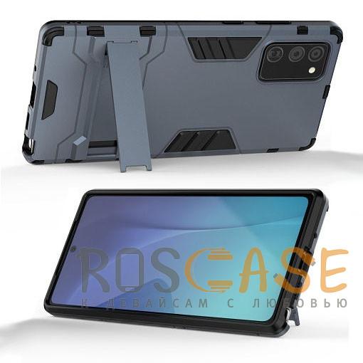 Фотография Синий Transformer   Противоударный чехол для Samsung Galaxy Note 20 с мощной защитой корпуса