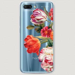 RosCase | Силиконовый чехол Весенний букет на Huawei Honor 10