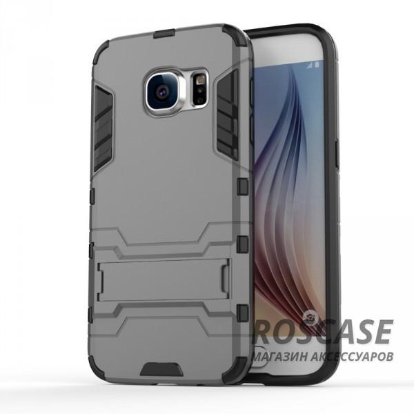 Ударопрочный чехол-подставка Transformer для Samsung G930F Galaxy S7 с мощной защитой корпуса (Металл / Gun Metal)Описание:подходит для Samsung G930F Galaxy S7;материалы: термополиуретан, поликарбонат;формат: накладка.&amp;nbsp;Особенности:функциональные вырезы;функция подставки;двойная степень защиты;защита от механических повреждений;не скользит в руках.<br><br>Тип: Чехол<br>Бренд: Epik<br>Материал: TPU