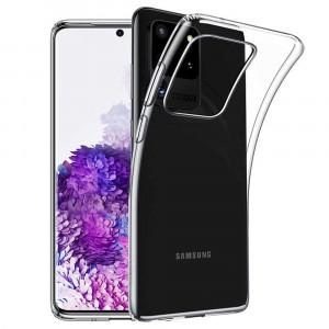 Прозрачный силиконовый чехол  для Samsung Galaxy S20 Ultra