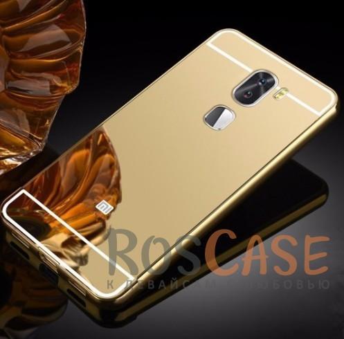 Металлический бампер с акриловой вставкой с зеркальным покрытием для Xiaomi Mi 5s Plus (Золотой)Описание:разработан для Xiaomi Mi 5s Plus;материалы - металл, акрил;тип - бампер с задней панелью.<br><br>Тип: Чехол<br>Бренд: Epik<br>Материал: Металл