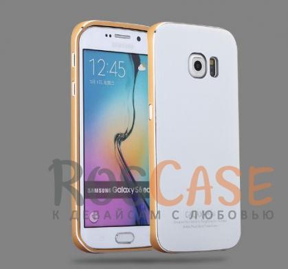 Металлический бампер Luphie с акриловой вставкой для Samsung Galaxy S6 G920F/G920D (Золотой / Белый)Описание:бренд -&amp;nbsp;Luphie;материал - алюминий, акриловое стекло;совместим с Samsung Galaxy S6 G920F/G920D;тип - бампер со вставкой.Особенности:акриловая вставка;прочный алюминиевый бампер;в наличии все вырезы;ультратонкий дизайн;защита устройства от ударов и царапин.<br><br>Тип: Чехол<br>Бренд: Luphie<br>Материал: Металл