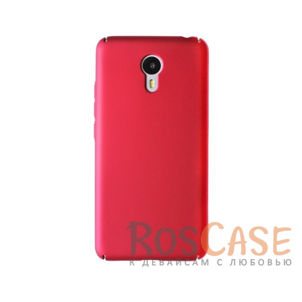 Пластиковая накладка soft-touch с защитой торцов Joyroom для Meizu M3 Note (Красный)<br><br>Тип: Чехол<br>Бренд: Epik<br>Материал: Пластик