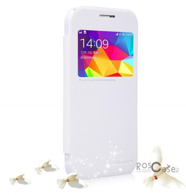 Кожаный чехол (книжка) Nillkin Sparkle Series для Samsung G360H/G361H Galaxy Core Prime Duos (Белый)Описание:разработчик и производитель&amp;nbsp;Nillkin;изготовлен из синтетической кожи и поликарбоната;фактурная поверхность;тип конструкции: чехол-книжка;совместим с Samsung G360H/G361H Galaxy Core Prime Duos.&amp;nbsp;Особенности:внутренняя отделка из микрофибры;ультратонкий;не скользит в руках;яркая, насыщенная палитра цветов.<br><br>Тип: Чехол<br>Бренд: Nillkin<br>Материал: Искусственная кожа