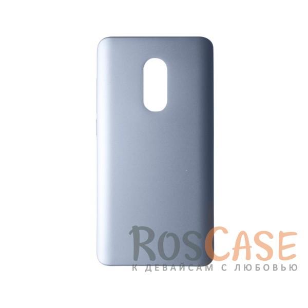 Пластиковая накладка soft-touch с защитой торцов Joyroom для Xiaomi Redmi Note 4 (Серебряный)<br><br>Тип: Чехол<br>Бренд: Epik<br>Материал: Пластик