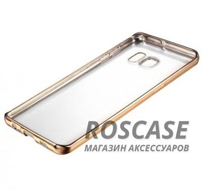 Прозрачный силиконовый чехол для Samsung G935F Galaxy S7 Edge с глянцевой окантовкой (Золотой)Описание:подходит для Samsung G935F Galaxy S7 Edge;материал - силикон;тип - накладка.Особенности:глянцевая окантовка;прозрачный центр;гибкий;все вырезы в наличии;не скользит в руках;ультратонкий.<br><br>Тип: Чехол<br>Бренд: Epik<br>Материал: Силикон