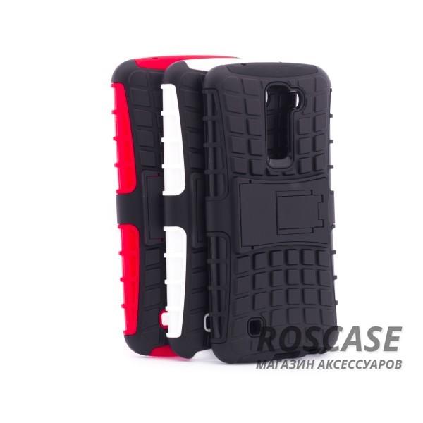 Противоударный двухслойный чехол Shield для LG K10 K410/K430DS с подставкойОписание:разработан специально для LG K10 K410/K430DS;материалы: поликарбонат, термополиуретан;тип: накладка.&amp;nbsp;Особенности:двухслойный;ударопрочный;оригинальный дизайн;стильный дизайн;в наличии все функциональные вырезы;функция подставки.<br><br>Тип: Чехол<br>Бренд: Epik<br>Материал: TPU