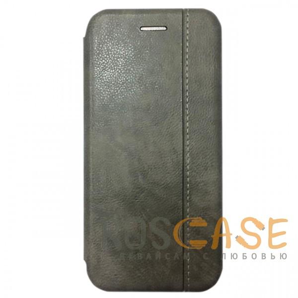 Фото Серый Open Color 2 | Чехол-книжка на магните для Xiaomi Redmi 6 с подставкой и внутренним карманом