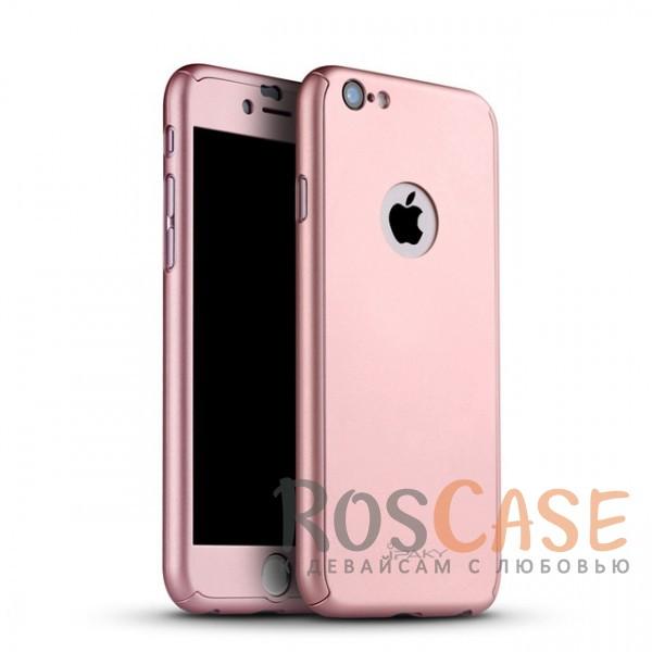 Чехол + закалённое стекло iPaky (original) 360 Full Protection (полная защита корпуса и экрана) для Apple iPhone 6/6s (4.7) (+ стекло на экран) (Rose Gold)Описание:производитель: iPaky;совместимость: смартфон Apple iPhone 6/6s (4.7);материалы для изготовления: поликарбонат и каленое стекло;форм-фактор: накладка.Особенности:надежная защита: чехол, бампер, стекло;высокий уровень износостойкости и прочности;ультратонкий, не увеличивает визуально объем;легко фиксируется;легко очищается.<br><br>Тип: Чехол<br>Бренд: iPaky<br>Материал: Пластик