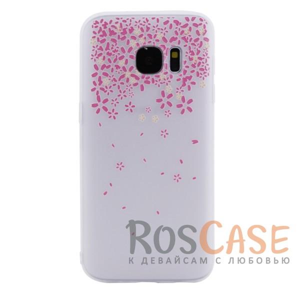 Женский силиконовый матовый чехол с оригинальным принтом и покрытием soft touch для Samsung G930F Galaxy S7 (Цветы Розовый)Описание:разработан с учетом особенностей Samsung G930F Galaxy S7;материал - силикон;матовая поверхность;не скользит в руках;на нем не заметны отпечатки пальцев;предусмотрены все функциональные вырезы;оригинальный рисунок;формат - накладка.<br><br>Тип: Чехол<br>Бренд: Epik<br>Материал: Силикон