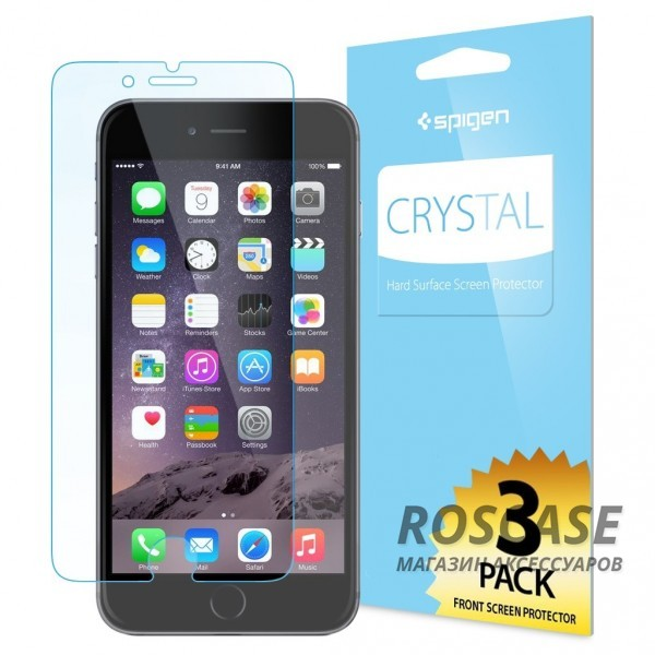 Защитная пленка SGP Steinheil Series для Apple iPhone 6/6s plus (5.5) (Ultra Crystal / SGP10874)Описание:бренд:&amp;nbsp;SGP;совместимость: Apple iPhone 6/6s plus (5.5);материал: полимер;тип: пленка.&amp;nbsp;Особенности:имеются все функциональные вырезы;анти-бликовое покрытие;функция анти-отпечатки;в комплекте 3 пленки (2 - на экран, 1 - на заднюю панель).<br><br>Тип: Защитная пленка<br>Бренд: SGP