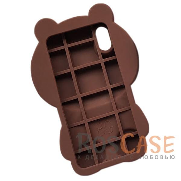 """Фотография Коричневый Большой силиконовый чехол-игрушка медведь Тедди для Apple iPhone X (5.8"""")"""