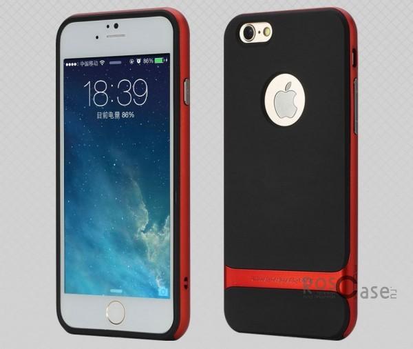 TPU+PC чехол Rock Royce Series для Apple iPhone 6/6s (4.7) (Черный / Красный)Описание:фирма-производитель  -  Rock;совместимость - Apple iPhone 6/6s (4.7);материалы  -  полиуретан, поликарбонат;тип  -  накладка.&amp;nbsp;Особенности:пластичный;имеет все необходимые вырезы;легко чистится;не увеличивает габариты;защищает от ударов и падений;износостойкий.<br><br>Тип: Чехол<br>Бренд: ROCK<br>Материал: TPU