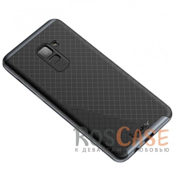 Изображение Черный / Серый iPaky Hybrid | Противоударный чехол для Samsung A730 Galaxy A8+ (2018)