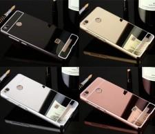 Металлический бампер для Xiaomi Redmi 3 Pro / Redmi 3s с зеркальной вставкой