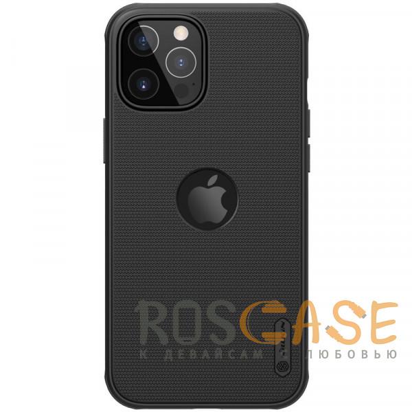 Фото Черный Nillkin Super Frosted Shield Pro   Матовый пластиковый чехол для iPhone 12 / 12 Pro с отверстием под лого