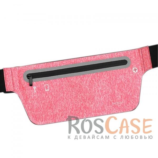 Спортивная сумка на пояс Rock (Slim) (Малиновый  / Rose red)Описание:производитель  - &amp;nbsp;Rock;совместимость  -  смартфоны с диагональю&amp;nbsp;до 6-ти дюймов;материал  -  лайкра;форма  -  сумка на пояс;регулируемый ремень - 50-140 см;водонепроницаемая молния;размеры сумки - 27*11,2 см;предусмотрено отверстие для провода наушников;светоотражающая полоса;водонепроницаемый материал.<br><br>Тип: Чехол<br>Бренд: ROCK<br>Материал: Натуральная кожа