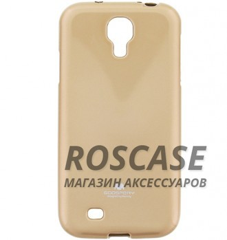 фото Золотой TPU чехол Mercury Jelly Color series для Samsung i9500 Galaxy S4