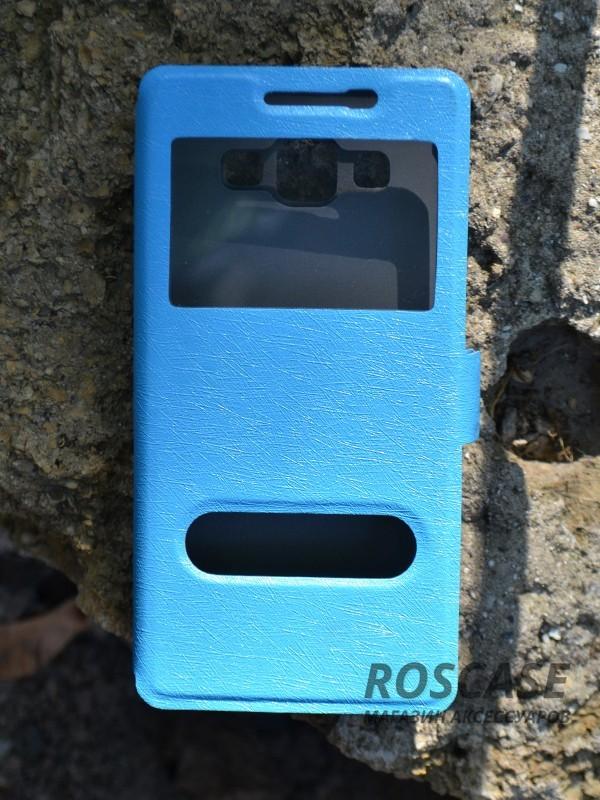 Чехол (книжка) Smart Case Series для Samsung A500H / A500F Galaxy A5 (Голубой)Описание:производитель -&amp;nbsp;Epik;совместим с Samsung A500H / A500F Galaxy A5;материал - поликарбонат + кожзам;форма - книжка.Особенности:ультратонкий дизайн;устойчивость к деформации;гладкая поверхность;окошко в обложке;магнитная застежка;наличие необходимых вырезов.<br><br>Тип: Чехол<br>Бренд: Epik<br>Материал: Искусственная кожа