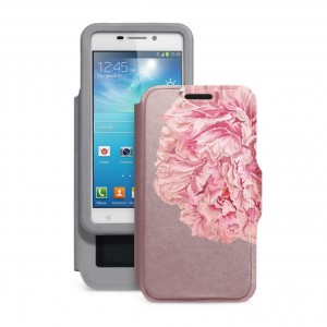 "Gresso ""Калейдоскоп Пион"" |  женский чехол-книжка с принтом цветка для Samsung Galaxy Core Advance (i8580)"