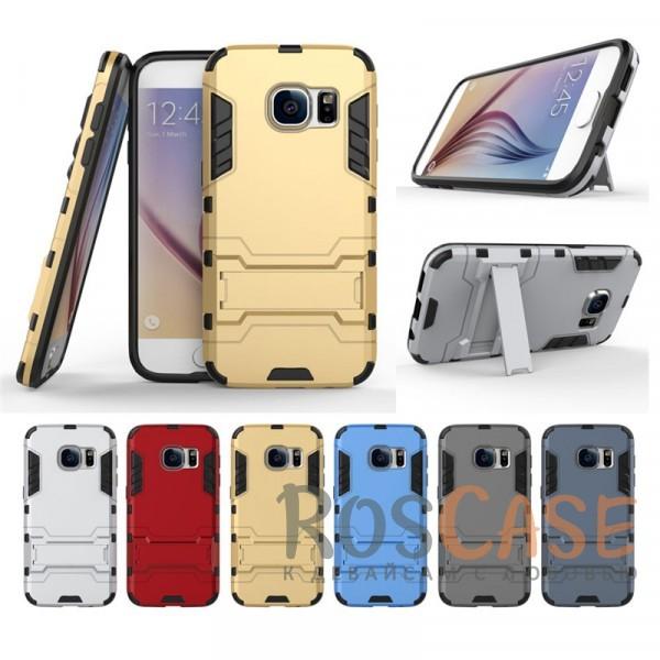 Ударопрочный чехол-подставка Transformer для Samsung G930F Galaxy S7 с мощной защитой корпусаОписание:подходит для Samsung G930F Galaxy S7;материалы: термополиуретан, поликарбонат;формат: накладка.&amp;nbsp;Особенности:функциональные вырезы;функция подставки;двойная степень защиты;защита от механических повреждений;не скользит в руках.<br><br>Тип: Чехол<br>Бренд: Epik<br>Материал: TPU