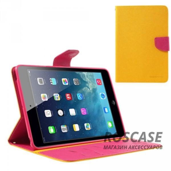 Чехол (книжка) Mercury Fancy Diary series для iPad Mini / iPad Mini Retina/ iPad mini 3 (Желтый / Малиновый)Описание:производитель  -  бренд&amp;nbsp;Mercury;совместим с iPad Mini / iPad Mini Retina/ ipad mini 3;материалы  -  искусственная кожа, термополиуретан;форма  -  чехол-книжка.&amp;nbsp;Особенности:рельефная поверхность;все функциональные вырезы в наличии;внутренние кармашки;магнитная застежка;защита от механических повреждений;трансформируется в подставку.<br><br>Тип: Чехол<br>Бренд: Mercury<br>Материал: Искусственная кожа