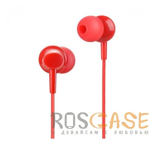 Изображение Красный HOCO M14   Стерео наушники с микрофоном