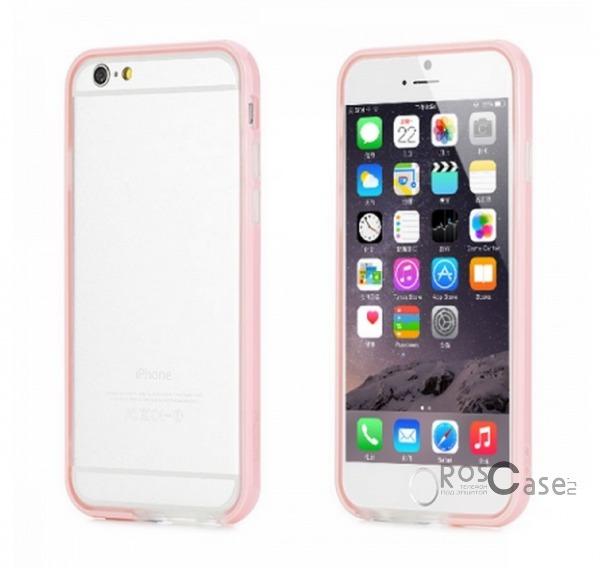 Бампер ROCK Duplex Slim Guard для Apple iPhone 6/6s (4.7)  (Розовый / Pink)Описание:производитель  - &amp;nbsp;Rock;создан специально для Apple iPhone 6/6s (4.7);материал - поликарбонат, термополиуретан;защищает боковые части аппарата.Особенности:ультратонкий, всего 2 мм;представлен в широком цветовом диапазоне;простая установка;обладает высоким уровнем устойчивости к внешним воздействиям.<br><br>Тип: Бампер<br>Бренд: ROCK