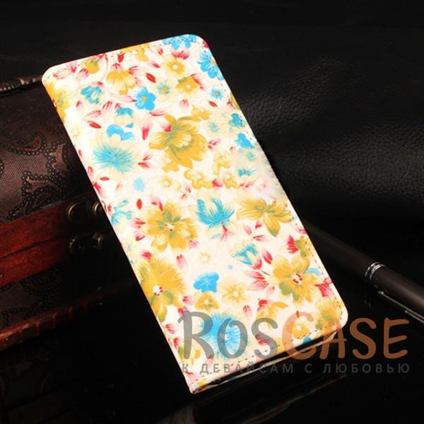 Чехол-кошелёк с цветочным рисунком и функцией подставки для Xiaomi Redmi Note 4 (MTK) (Желтый)<br><br>Тип: Чехол<br>Бренд: Epik<br>Материал: Искусственная кожа
