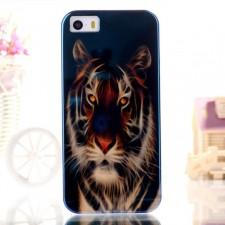 "TPU чехол IMD Print ""Взгляд тигра"" для Apple iPhone 5/5S/SE"