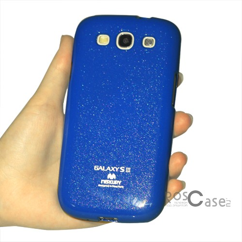 фото Синий TPU чехол Mercury Jelly Color series для Samsung i9300 Galaxy S3