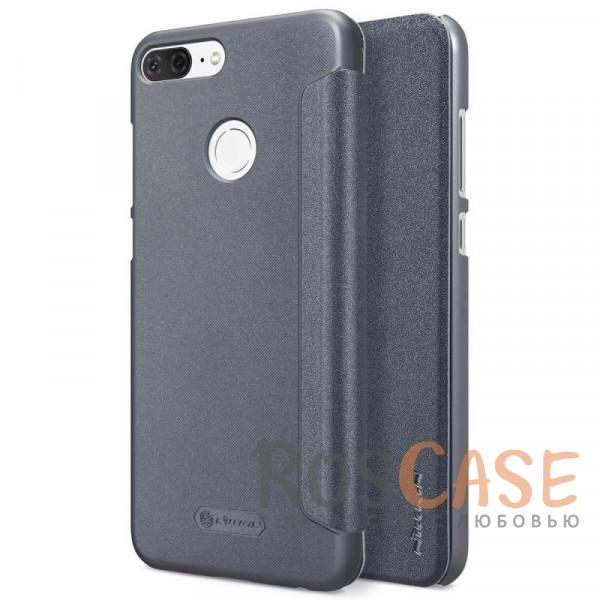 Защитный чехол-книжка для Huawei Honor 9 Lite (Черный)Описание:спроектирован для Huawei Honor 9 Lite;материалы: поликарбонат, искусственная кожа;блестящая поверхность;не скользит в руках;предусмотрены все необходимые вырезы;защита со всех сторон;тип: чехол-книжка.<br><br>Тип: Чехол<br>Бренд: Nillkin<br>Материал: Искусственная кожа
