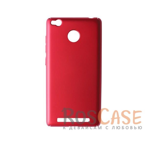 Пластиковая накладка soft-touch с защитой торцов Joyroom для Xiaomi Redmi 3 Pro / Redmi 3s (Красный)<br><br>Тип: Чехол<br>Бренд: Epik<br>Материал: Пластик