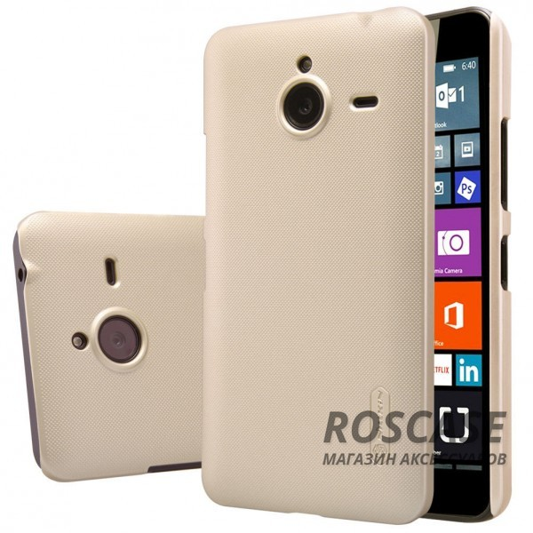 Чехол Nillkin Matte для Microsoft Lumia 640XL (+ пленка) (Золотой)Описание:производитель - компания&amp;nbsp;Nillkin;материал - поликарбонат;совместим с Microsoft Lumia 640XL;тип - накладка.&amp;nbsp;Особенности:матовый;прочный;тонкий дизайн;не скользит в руках;не выцветает;пленка в комплекте.<br><br>Тип: Чехол<br>Бренд: Nillkin<br>Материал: Поликарбонат