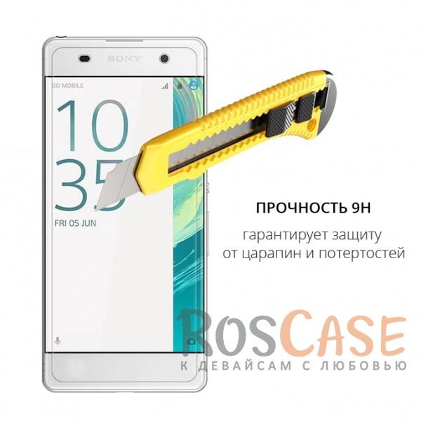 Изображение Прозрачное защитное стекло с закругленными краями и олеофобным покрытием для Sony Xperia XA / XA Dual