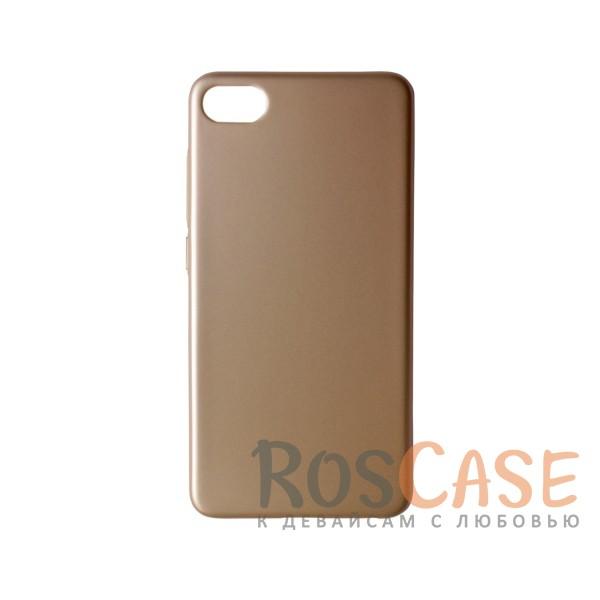 Пластиковая накладка soft-touch с защитой торцов Joyroom для Meizu U10 (Золотой)<br><br>Тип: Чехол<br>Бренд: Epik<br>Материал: Пластик