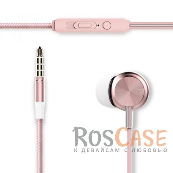 Наушники ROCK Y2 stereo (Розовый / Rose Gold)Описание:производитель  - &amp;nbsp;Rock;тип устройства  -  наушники-вкладыши;совместимость устройства с разъемом mini-jack 3,5 мм.Особенности:длина провода - 120 см;импеданс  -  32 Ом;диапазон частот 20  -  20000 Гц;чувствительность 96&amp;plusmn;3&amp;nbsp;дБ;на проводе расположен пульт управления.<br><br>Тип: Наушники/Гарнитуры<br>Бренд: ROCK