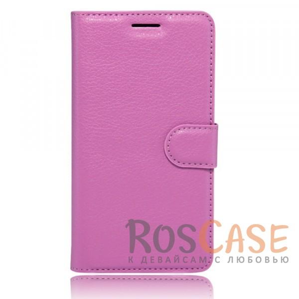 Фотография Фиолетовый Wallet   Кожаный чехол-кошелек с внутренними карманами для Meizu M5
