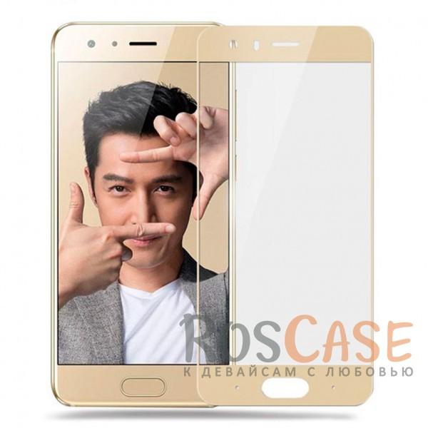 Тонкое олеофобное защитное стекло Mocolo с цветной рамкой на весь экран для Huawei Honor 9 (Золотой)<br><br>Тип: Защитное стекло<br>Бренд: Mocolo