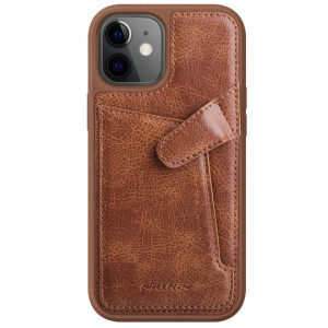 Nillkin Aoge Leather | Чехол с визитницей из Premium экокожи  для iPhone 12 Mini