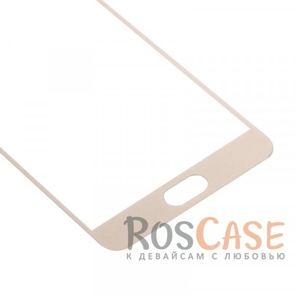 Фото Золотой CaseGuru | Полноэкранное защитное стекло для для Meizu M5