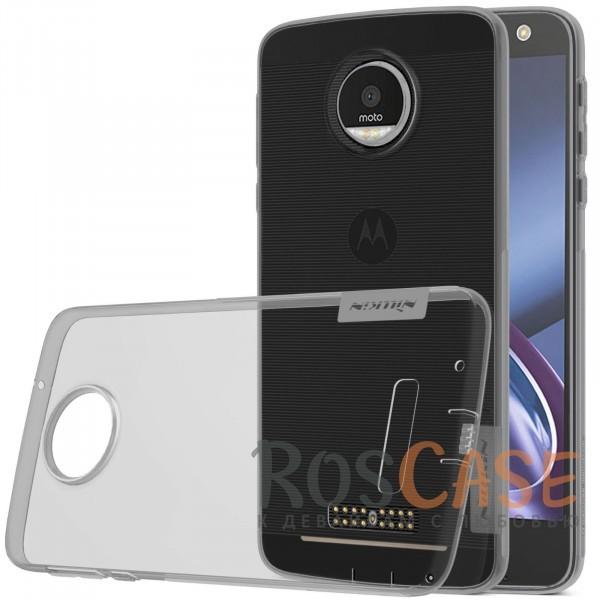 TPU чехол Nillkin Nature Series для Motorola Moto Z (XT1650) (Серый (прозрачный))<br><br>Тип: Чехол<br>Бренд: Nillkin<br>Материал: TPU
