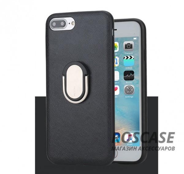 TPU+PC чехол Rock Ring Holder Case M1 Series для Apple iPhone 7 plus (5.5) (Черный / Black)Описание:изготовитель: Rock;совместимость: Apple iPhone 7 plus (5.5);материалы: термополиуретан и поликарбонат;тип: накладка.Особенности:защищает от ударов и царапин;рельефная задняя панель;функция подставки;металлическое кольцо-держатель;в наличии все вырезы.<br><br>Тип: Чехол<br>Бренд: ROCK<br>Материал: TPU