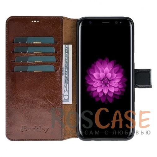 Фото Двухцветный чехол-книжка из натуральной кожи с функцией подставки и отделением под карты и денежные купюры для Samsung Galaxy S8 (G950)